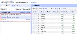 "Anchor texty ""facebook"" pro web pocitej.cz z Open Site Exploreru"
