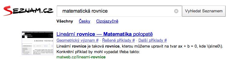 Seznam.cz umí skloňovat slova